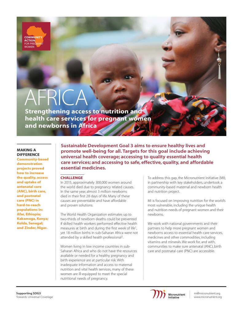 Community Action for Pregnant Women in Africa: Project Overview