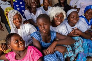 Group of adolescent girls in Senegal