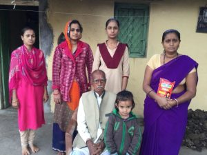 Santosh with her family