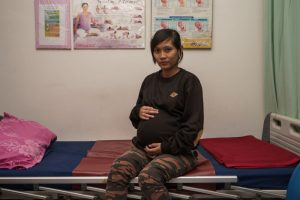 pregnant woman in Indonesia